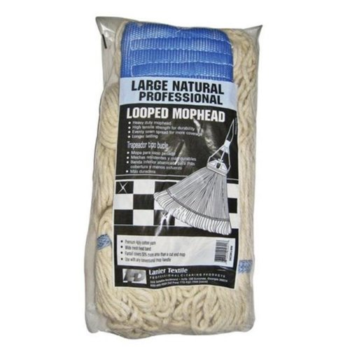 Lanier 114-LOOPED-WW 24 oz Natural Color Looped Mop Head