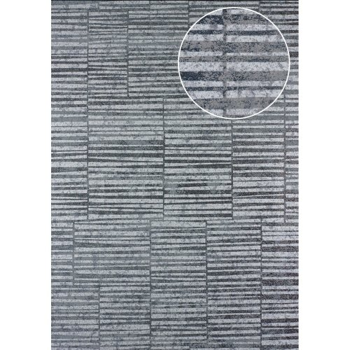 Atlas 24C-5056-3 Stripes wallpaper metallic highlights platinum 7.035 sqm