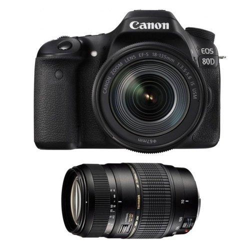 CANON EOS 80D EF-S 18-135MM F3.5-5.6 IS USM + TAMRON AF 70-300mm
