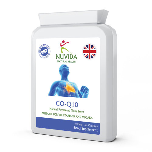Co-Enzyme Q10 (Co-Q10)  / 60 x 300mg Capsules / Naturally Fermented
