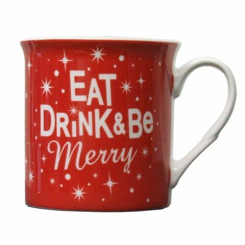 Junction 18 mug 32816 Eat Drink & Be Merry Christmas Ceramic Mug Xmas