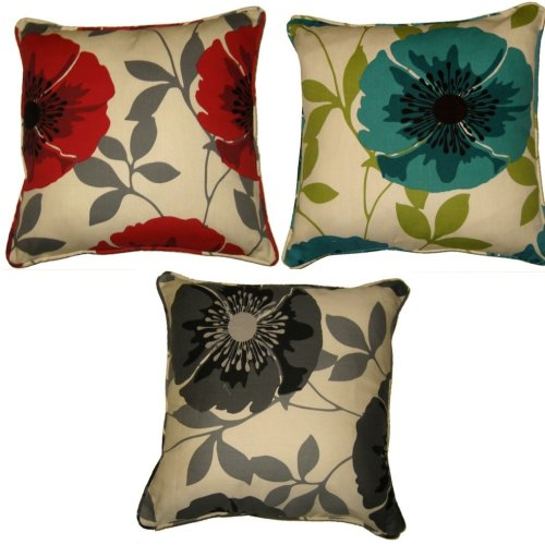 Isla Polycotton 18 x 18 printed Floral Cushion Cover in Colors