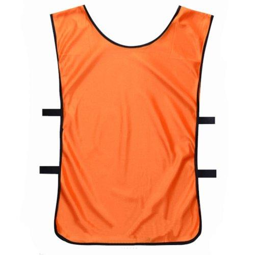Set of 6 Basketball/Soccer Training/Scrimmage Vests Basketball Jersey, ORANGE