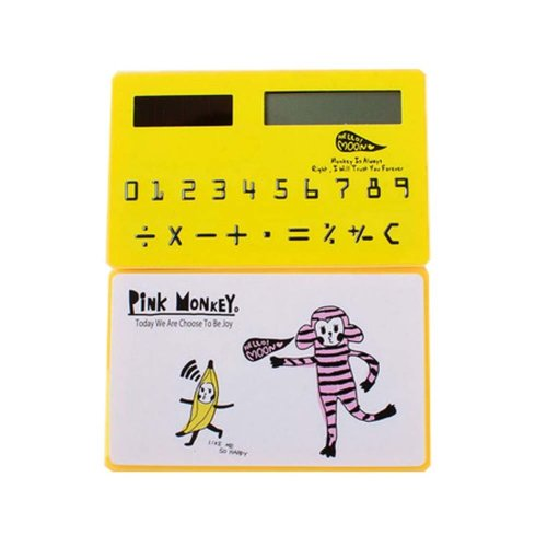 Creative Mini Solar Card Calculator Child Count Toy/Office Supplies,B6