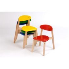 Childrens 30cm Wooden Wave Chair - Various Colours
