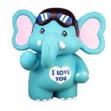 Blue Elephant Coin Holder Piggy Bank Great Gift for Kids