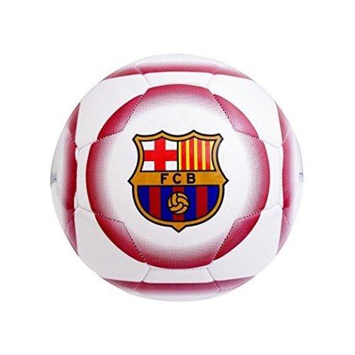 Barcelona FC Crest White Size 5 Football