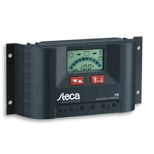 Steca Solar Panel Charge Controller/Regulator with LCD Display and Direct Output for 12V Loads to 10 A, Pack of 1, PR1010