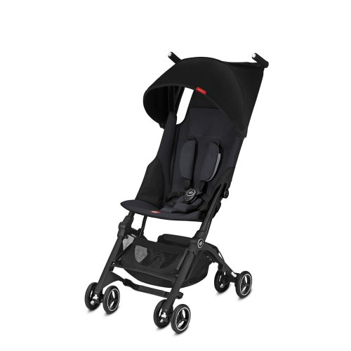 gb Gold Ultra Compact Pushchair Pockit+, From 6 months to 17 kg (approx. 4 years), Satin Black
