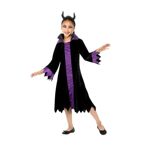 Maleficent Evil Queen Costume Halloween Child Fancy Dress Large Age 10 12