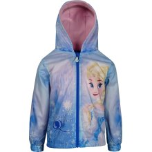 Girls DHQ1012 Disney Frozen Lightweight Hooded Jacket with Bag Size: 4-8 Years