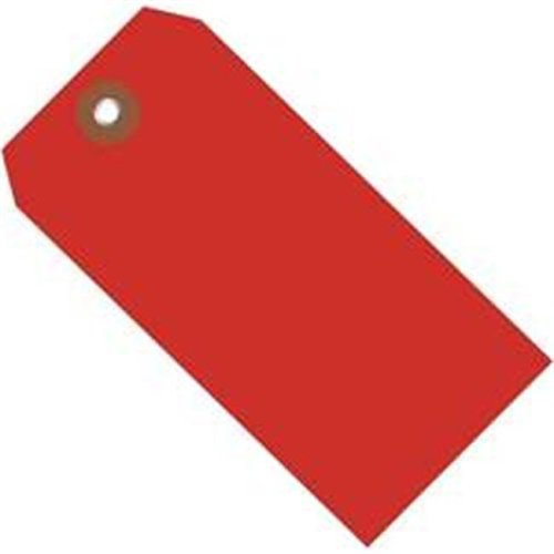 Box Partners G26063 6.25 x 3.12 in. Red Plastic Shipping Tags - Pack of 100