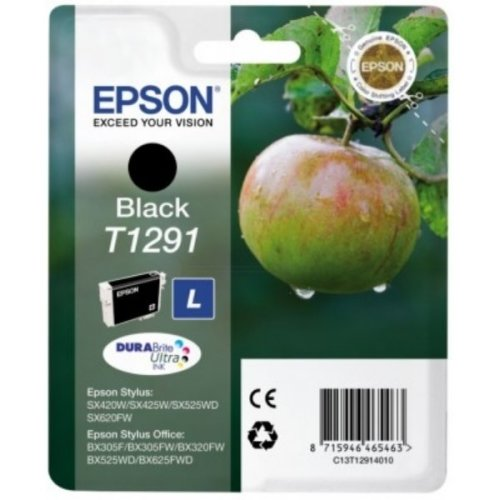 Epson C13T12914021 (T1291) Ink cartridge black, 380 pages, 11ml