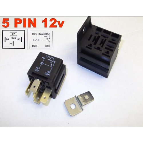 5 PIN 24v 20/30Amp AUTOMOTIVE CHANGEOVER RELAY CAR VAN WITH BRACKET ( 8 )