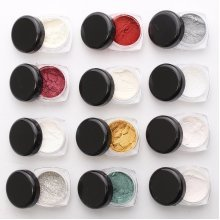 DANCINGNAIL Mirror Chrome Effect Nail Art Powder 12 Colors Kit Metallic Silver Pigment