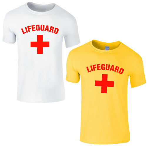 Lifeguard Cross + Fancy Dress Beach T-Shirt