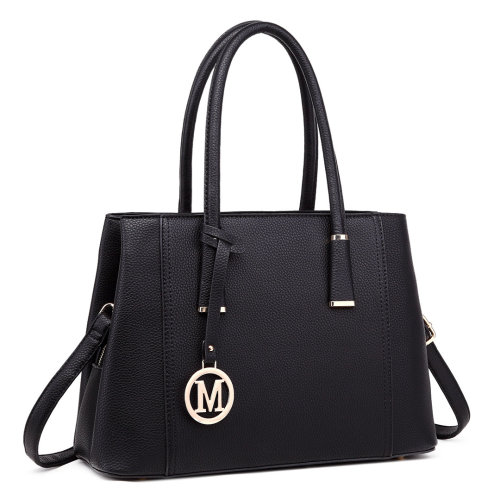 Miss Lulu Faux Leather Compartment Shoulder Bag