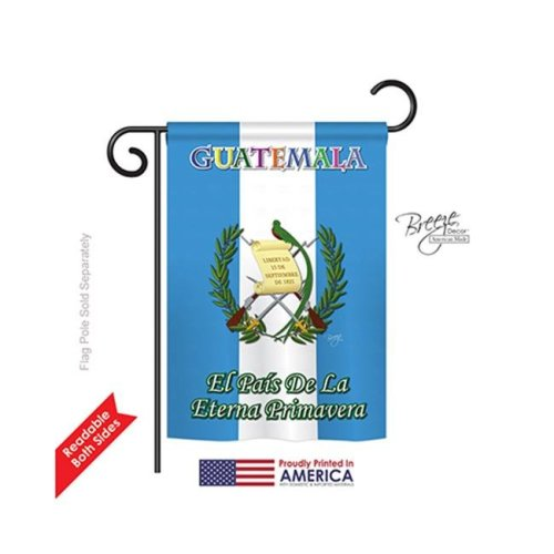 Breeze Decor 58096 Guatemala 2-Sided Impression Garden Flag - 13 x 18.5 in.