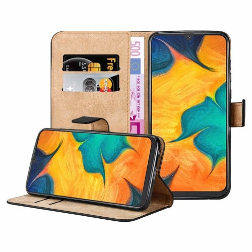 For Galaxy A30 Leather Wallet Magnetic Case Cover