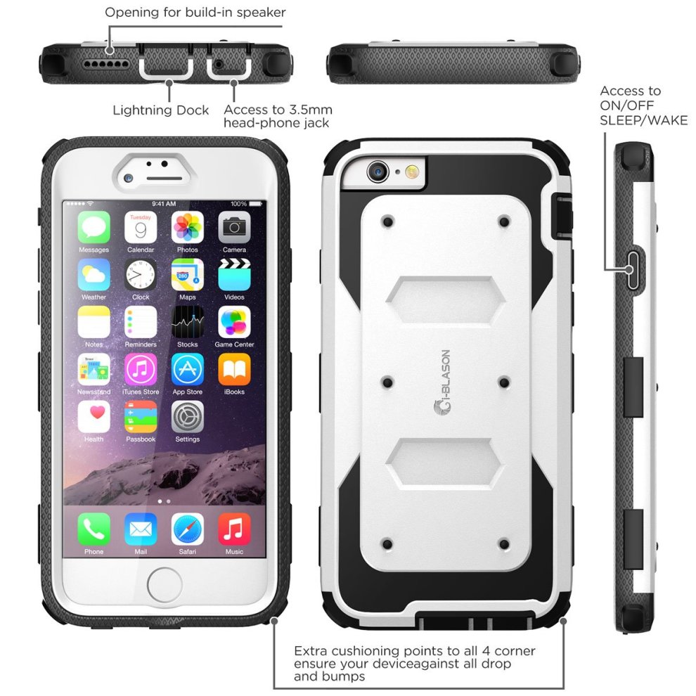 online store 262fc 4b4b7 iPhone 6S Case, [Heavy Duty] i-Blason Apple iPhone 6 Case 4.7 Inch Armorbox  [Dual Layer] Hybrid Full-body Protective Case with Front Cover and...