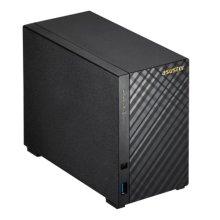 ASUSTOR AS3202T 2-Bay NAS Enclosure (No Drives), Quad Core CPU, 2GB DDR3L, HDMI, USB3, Diamond-Plate Finish