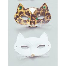 Leopard Print Domino Eye Mask -  eye mask leopard domino masquerade masked ball fancy dress FANCY DRESS MASK MASQUERADE LEOPARD CAT FELINE DOMINO