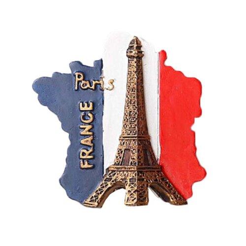 1 PCS Resin Fridge Magnet Kitchen Refrigerator Magnet France Series - 02