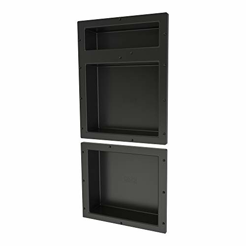 Tile Redi USA RNT1620DU 14 Niche Shower Shelf 16 W x 34 H Black