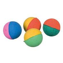 Trixie Soft Foam Rubber Ball, 4.3 Cm, Pack Of 4 - Balls Cat Toy Kitten 43cm -  foam balls trixie 4 soft cat toy rubber pack kitten 43 cm