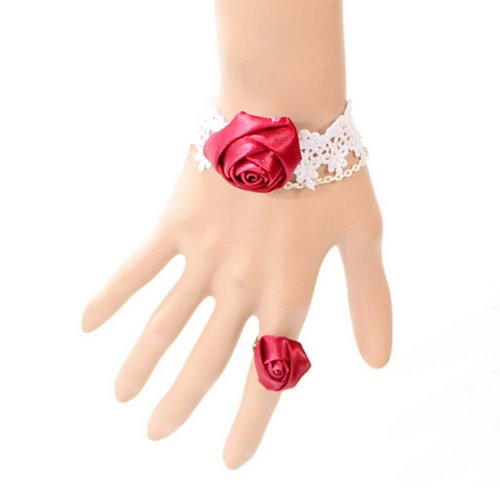 Complex Gulei Si Crystal Gemstone Bracelet Ring Jewelry, Rose
