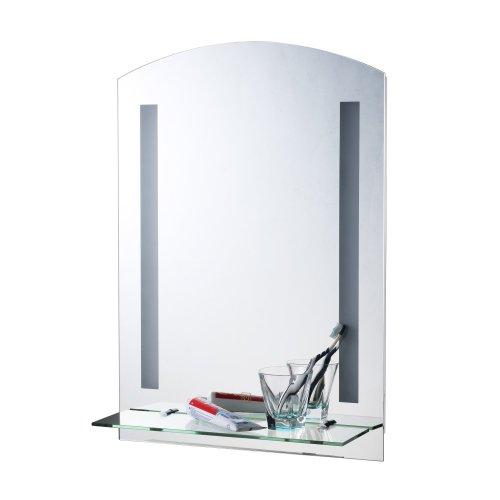 Homcom Led Illuminated Bathroom Mirror Aluminium Modern 70hx50lx4d (cm)