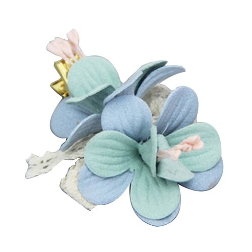 [Flower-1] 2 Pairs Stylish Hair Clip Baby Girls Hair Clip Princess Hair Barrette