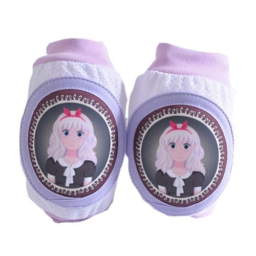 One Pair Cute Little Princess Child Knee Elbow Pads Crawling Protector