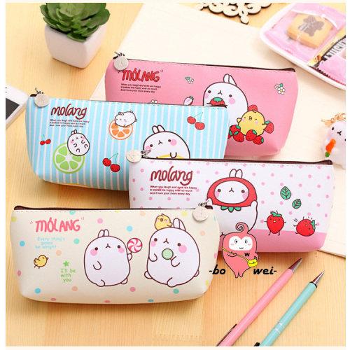 Cute Cartoon Rabbit Pencil Case Box Pen Storage Bag Pouch Cosmetics Makeup Bag