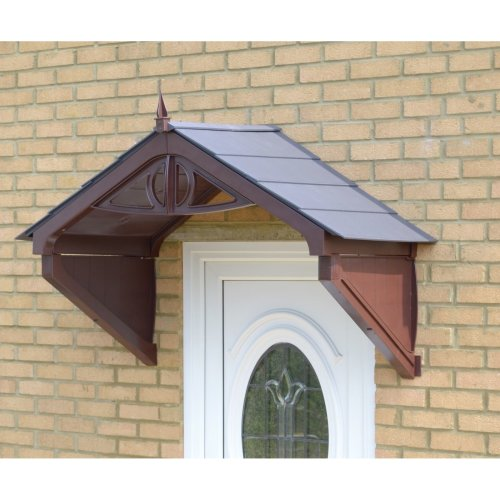Brown Rothwell Door Canopy with choice of roof tile colours