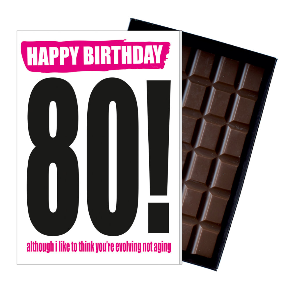 Funny 80th Birthday Gift Rude Naughty Present For Him Or Her 85g Chocolate Card On OnBuy