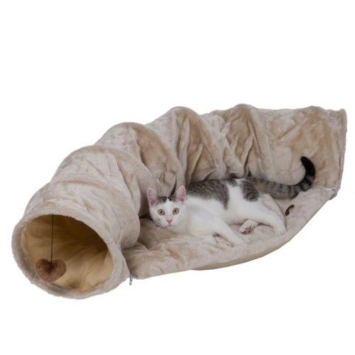 Cat Tunnel with Detachable Soft Plush Cushion