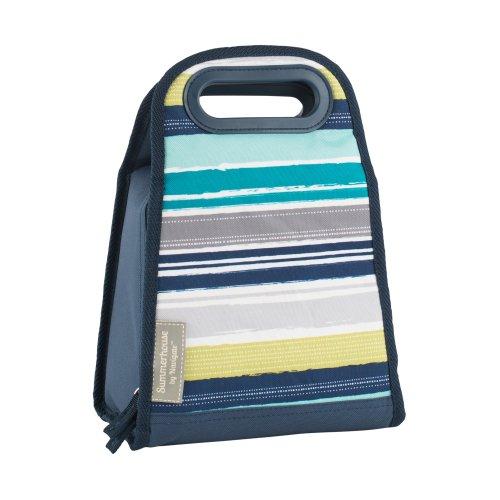 Navigate Atlantic Blue Stripe 2L Insulated Lunch Bag