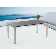 Nice Table 180cm single, Stainless Steel - with Granite Plate - GROSSETO