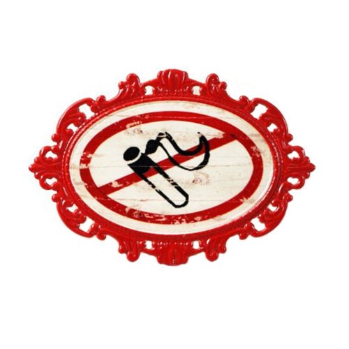 Decorative Wall Hanging Wall Accent Wall Door Hanging Plaques No Smoking Sign
