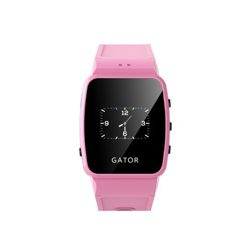 Techsixtyfour Gator Smartwatch Wearable Mobile Phone and GPS/Wi-Fi Tracker for Kids, UK SIM Only, Pink