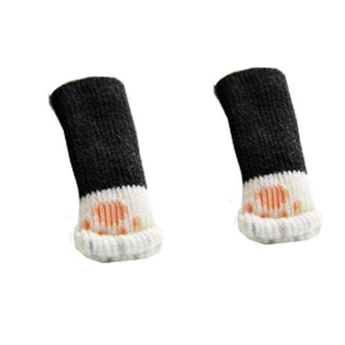 24PCSProtector Furniture Floor Knit Socks/ Reduce Noise/ Chair Leg Socks,Cat Paw