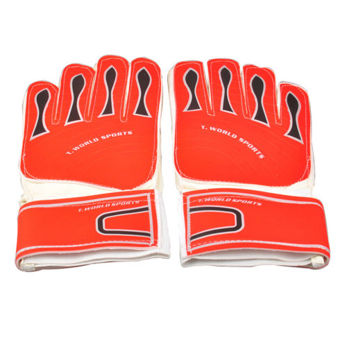 Adults Receiver Glove Latex Football Receiver Gloves, (White/Red, M)