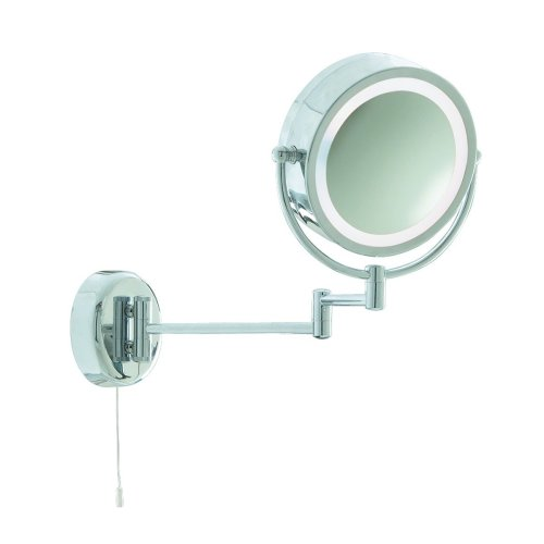 Magnifying Extendable Bathroom Mirror Light X3 Magnification