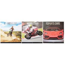 2018 Motorbikes Sports Cars Adrenaline Square Wall Calendar Super Performance Extreme Ultimate Racing Christmas Birthday Gift Home Office