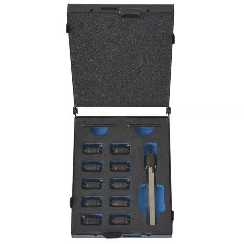 vidaXL 13 Piece Spot Weld Cutter Set HSS-Cobalt Garage Repair Remover Tool Kit