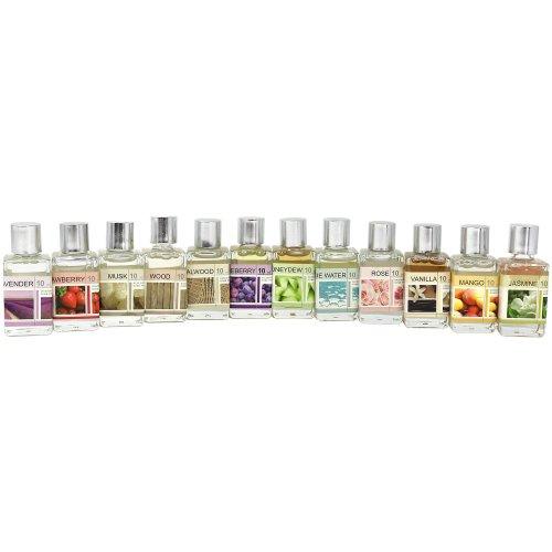 COM-FOUR 12x different fragrant oils, fragrance oil for fragrance lamps and Duftstövchen (12 pieces - mix set)