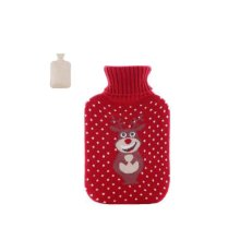 Christmas version Classic Hot water Bottle Transparent Rubber Cartoon Warm Bag Water spray #25