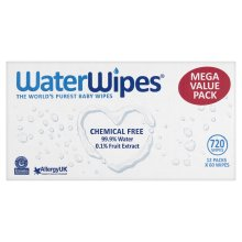 WaterWipes Newborn Baby Wipes, Totally Natural & Sensitive, 12 x 60 (720 Wipes)