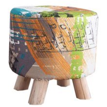 Creative Wood Linen for Shoe Stool Household Stool Round stool Children Adults Apply # 2